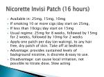 nicorette invisi patch 16 hours