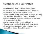nicotinell 24 hour patch