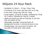 niquitin 24 hour patch