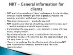 nrt general information for clients