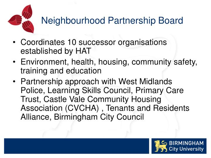 Neighbourhood Partnership Board