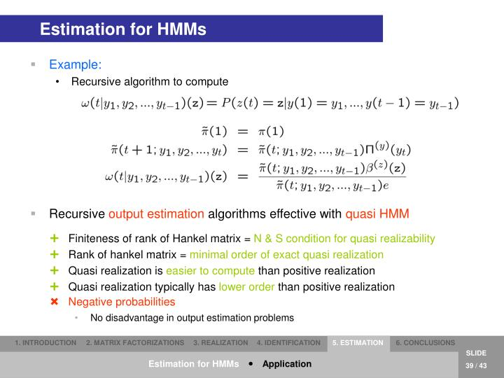 Estimation for HMMs