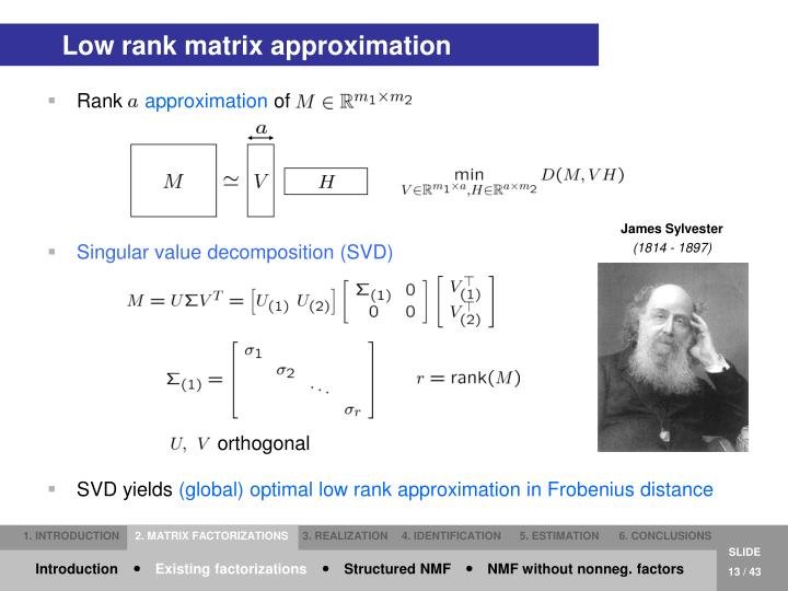 Low rank matrix approximation