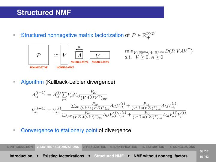 Structured NMF