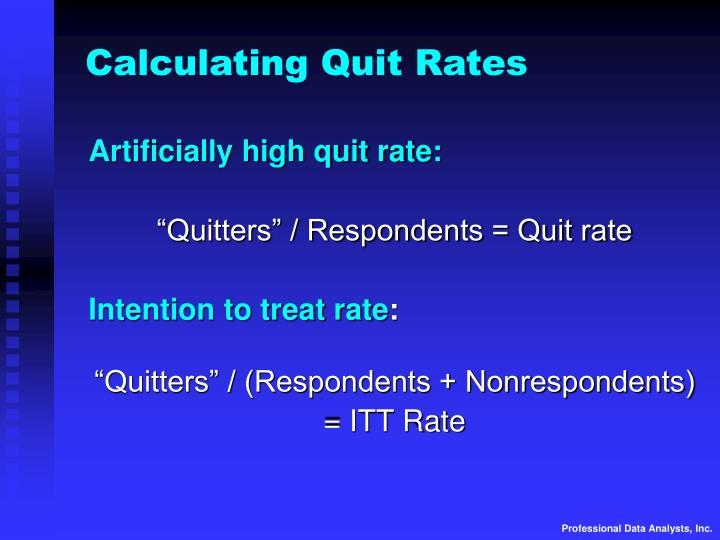 Calculating Quit Rates