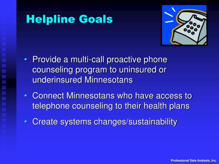 Helpline Goals