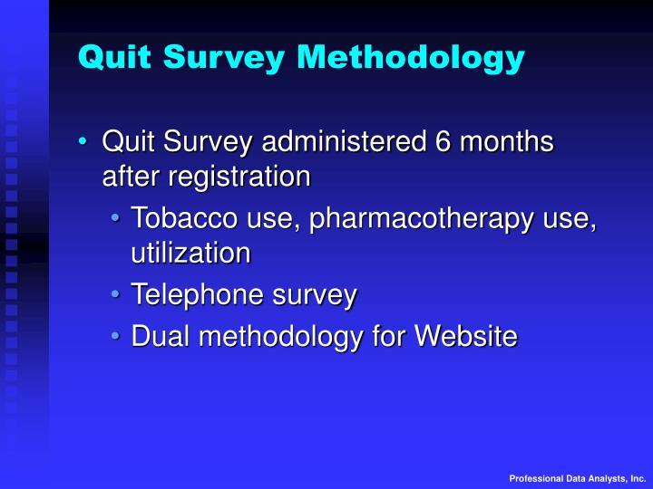 Quit Survey Methodology