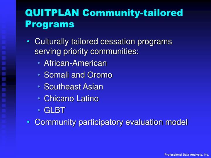QUITPLAN Community-tailored Programs