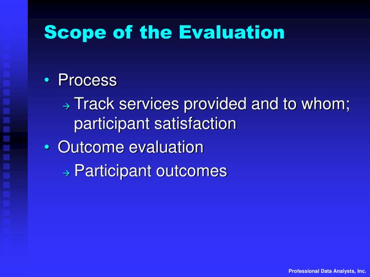 Scope of the Evaluation
