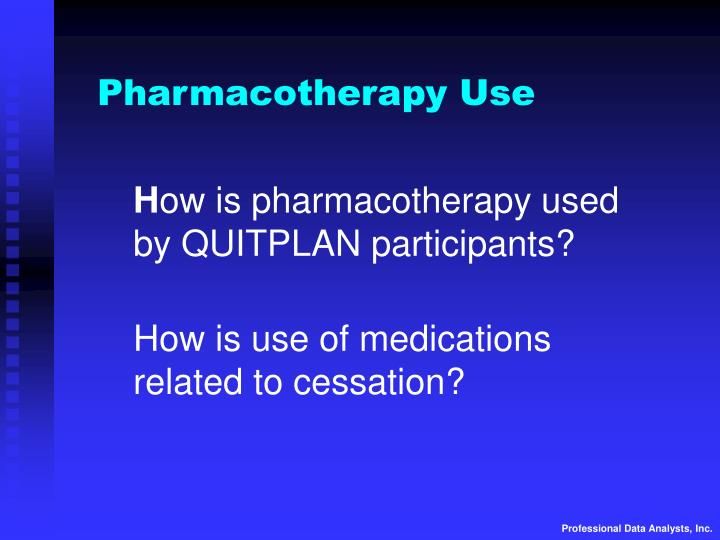 Pharmacotherapy Use