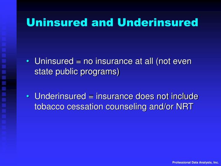 Uninsured and Underinsured