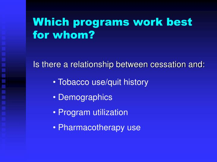 Tobacco use/quit history