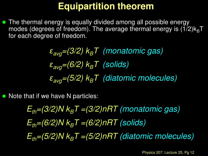 Equipartition theorem