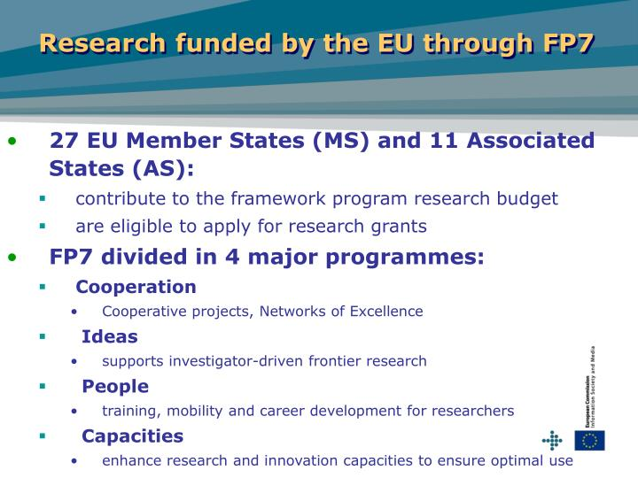 Research funded by the EU through FP7