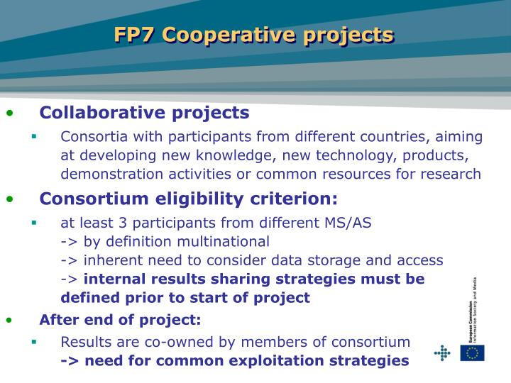 FP7 Cooperative projects