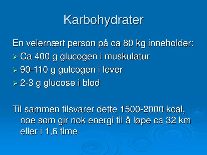 Karbohydrater