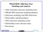 wrap rmc 2002 base year modeling and analysis1