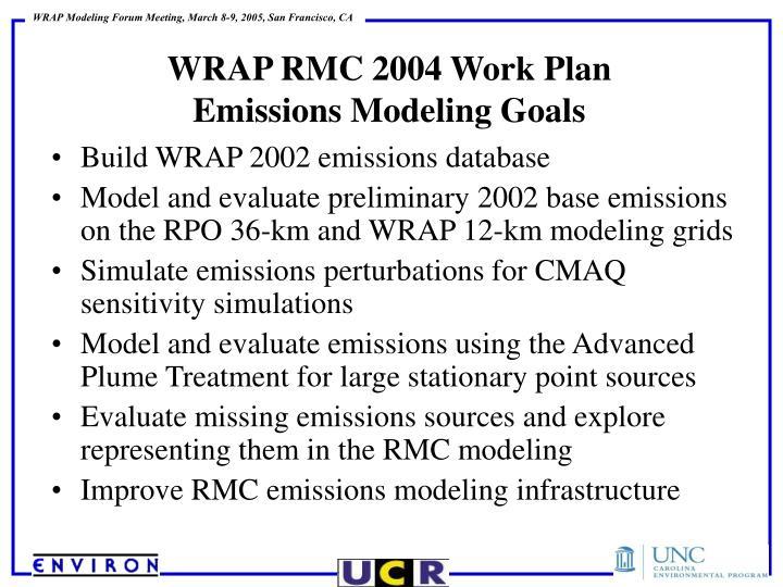 Build WRAP 2002 emissions database