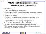 wrap rmc emissions modeling deliverables and qa products