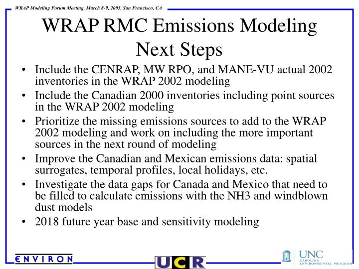 Include the CENRAP, MW RPO, and MANE-VU actual 2002 inventories in the WRAP 2002 modeling