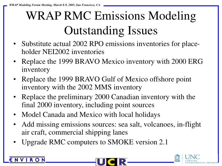 Substitute actual 2002 RPO emissions inventories for place-holder NEI2002 inventories