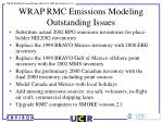 wrap rmc emissions modeling outstanding issues
