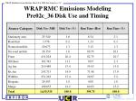 wrap rmc emissions modeling pre02c 36 disk use and timing