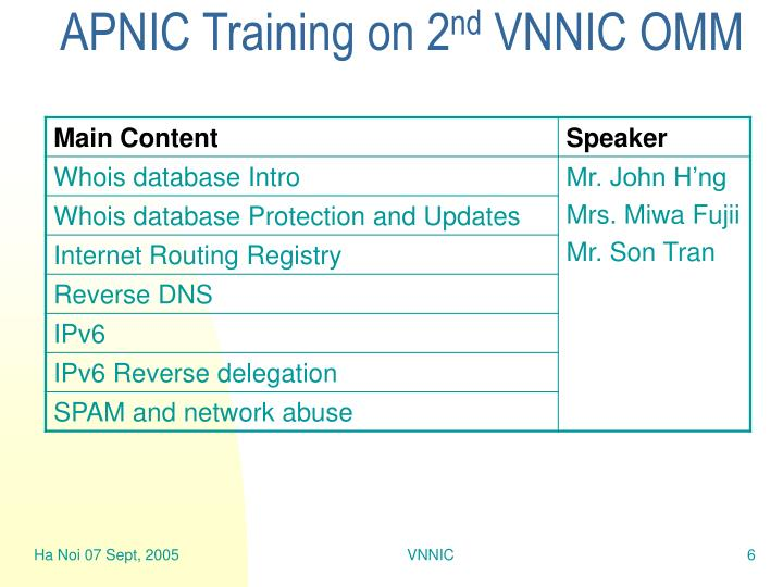 APNIC Training on 2