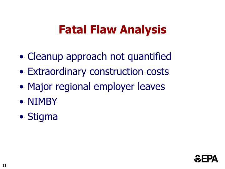 Fatal Flaw Analysis