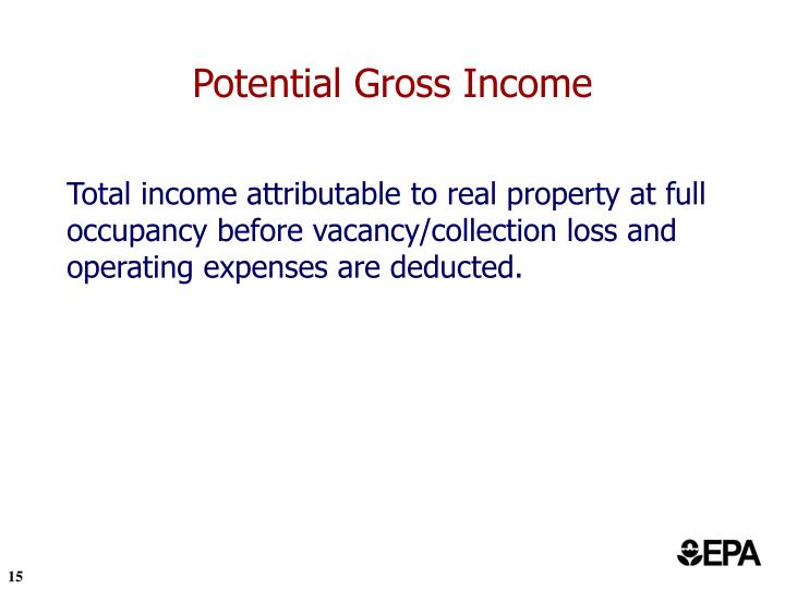 Potential Gross Income