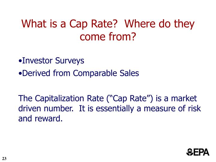 What is a Cap Rate?  Where do they come from?