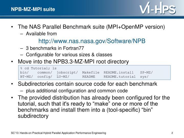 NPB-MZ-MPI suite