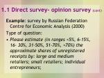 1 1 direct survey opinion survey cont