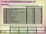 1 1direct methods example of survey