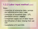 1 2 2 labor input method cont