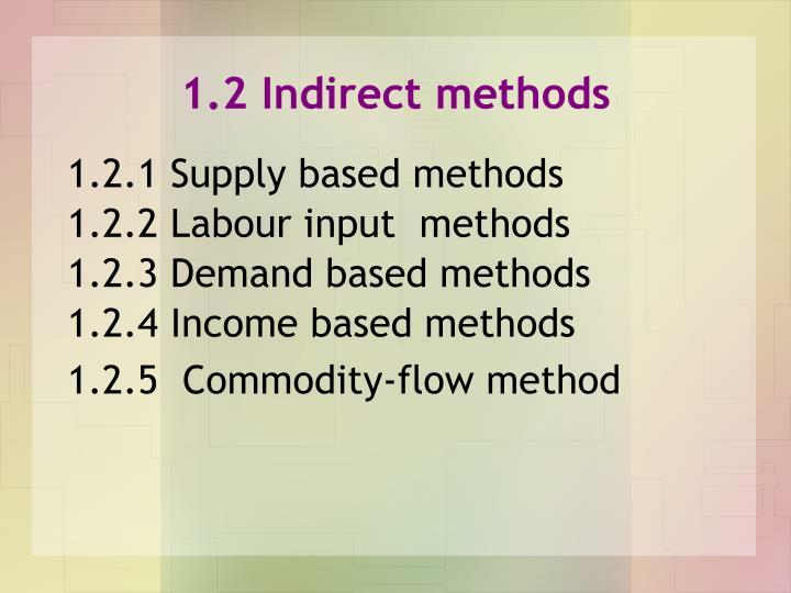 1.2 Indirect methods