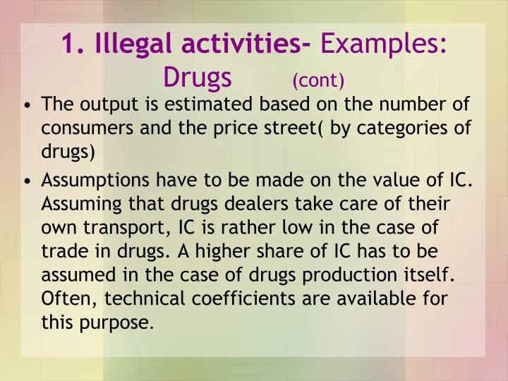 1. Illegal activities-