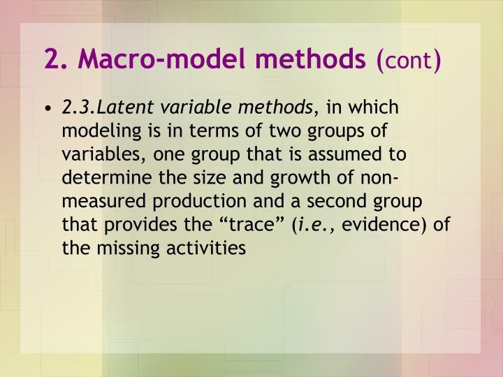 2. Macro-model methods