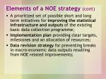 elements of a noe strategy cont