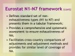 eurostat n1 n7 framework cont
