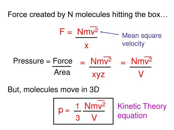 F =  Nmv