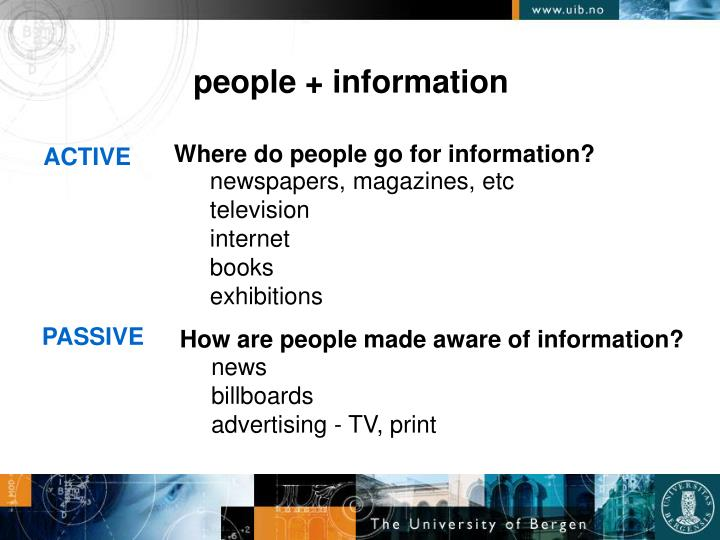 People + information