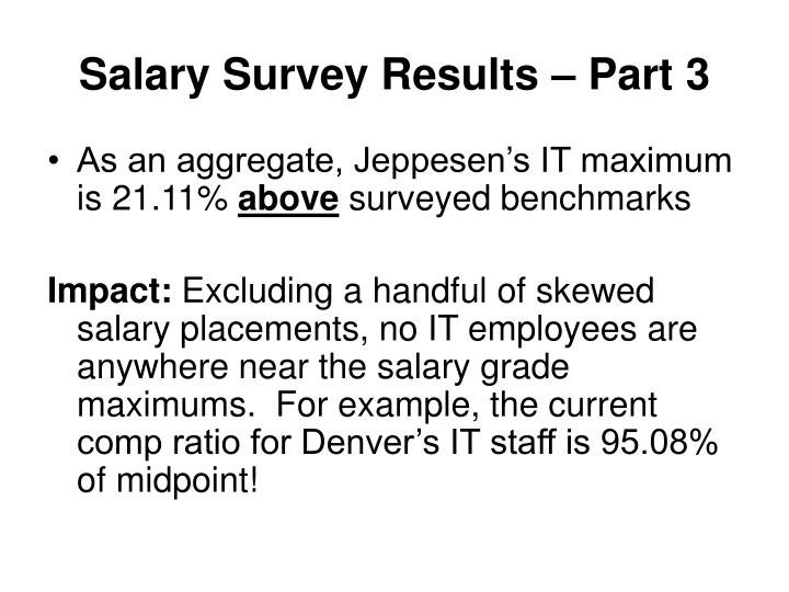 Salary Survey Results – Part 3