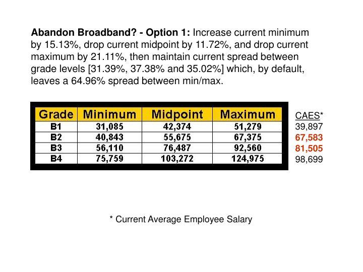 Abandon Broadband? - Option 1: