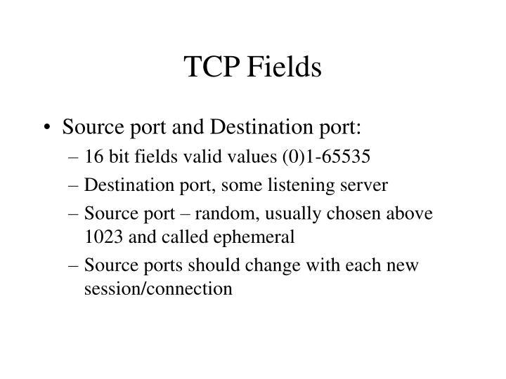 TCP Fields