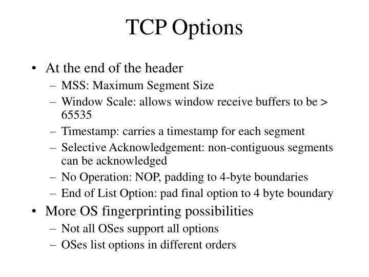TCP Options