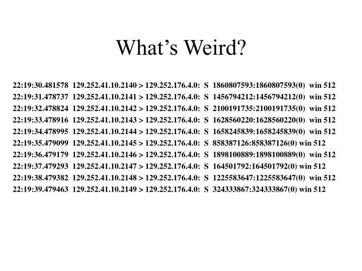 What's Weird?