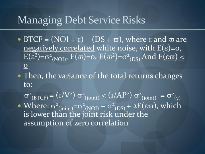 Managing Debt Service Risks