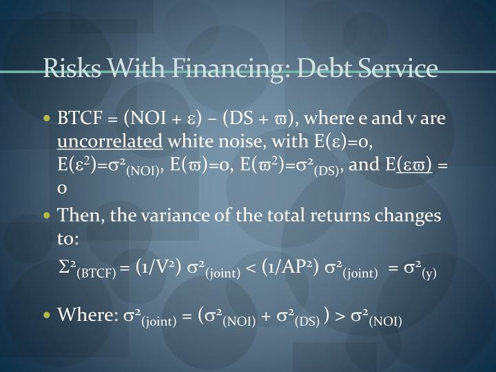 Risks With Financing: Debt Service