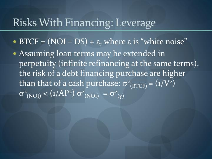 Risks With Financing: Leverage